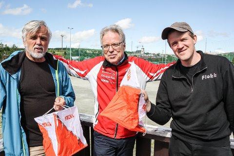 LØPSLEDERE FOR SOMMERLØPENE: Fra venstre: Jon Ola Kroken, Petter Gullikstad og Halstein Kvangraven.