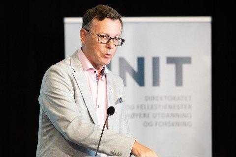 FØRSTEVALG: Dag Rune Olsen er innstilt på topp som ny UiT-rektor. Foto: Audun Braastad / NTB