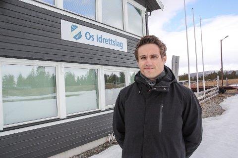 NY SJEF: Martin Rindalsholt er ny daglig leder i Os IL og TOS Arena.