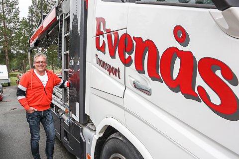 VAREMERKE: Ivar Evenås har i løpet av 45 år bygd opp en solid og velrennomert transportbedrift.
