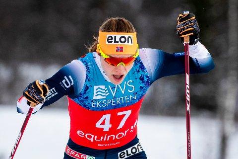 Magni Smedås var best av de norske løpere i sprintkvalifiseringen for kvinner i Sverige.