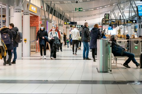 Mange reiser til Trondheim på påskeferie, viser en gjennomgang av Avinors ankomster på Værnes. Bildet er ment som illustrasjon. Foto: Gorm Kallestad / NTB