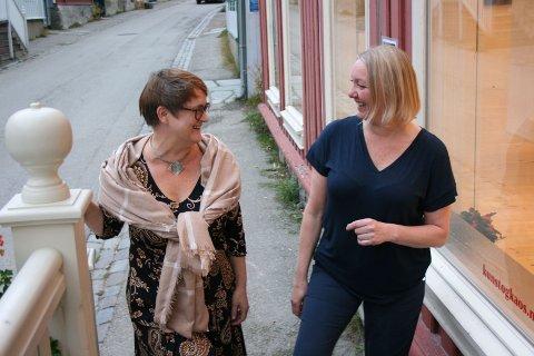 Sohlberg-prosjekt: Sigrid M. Jansen (t.v.) og Ellen Kristine Klemmetvold søker støtte til et kunst- og kulturprosjekt med utgangspunkt i Harald Sohlberg. FOTO: Ella M. Sundt