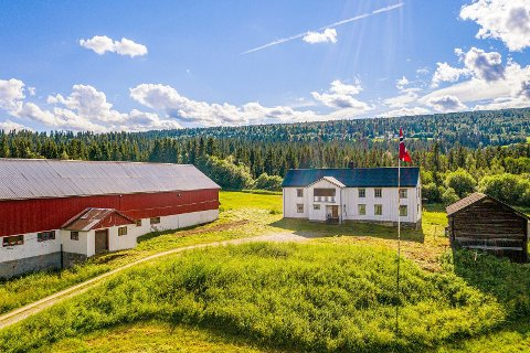GAMMEL: Gården ligger på Tangen i Ålen og har historie langt bakover i tid. Det er 99 dekar med dyrka mark med eiendommen. Foto: Meglerhuset Nylander