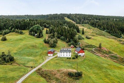 SKITUR: Gården ligger et steinkast unna Ålen Skisenter. Ifølge eiendomsmegleren stiger interessen blant unge for å flytte bosted og hjemmekontor til småbruk på landet.