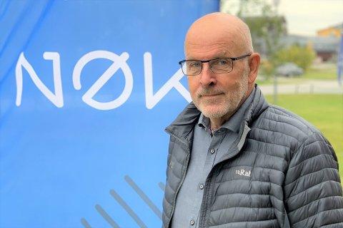 LOKALT PENGEDRYSS: Styreleder i Nord-Østerdal Kraftlag, Bjørn Frydenborg, kommer her med ei gladmelding.