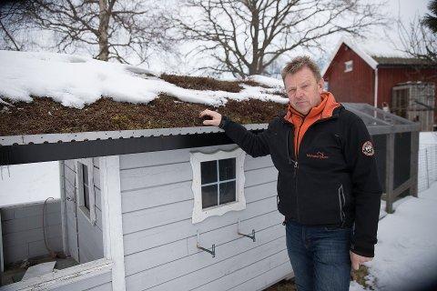 FÅR STØTTE TIL PRODUKTUTVIKLING: Øistein Kvarme, daglig leder for Blomstertak As i Ås.