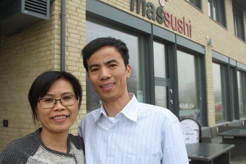 Vitnamserene Tan Thi Nguyen og Nam Thanh har åpnet denne Sushi-restauranten i Drøbak.