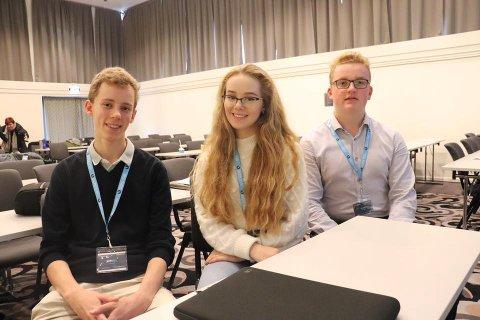VIL INKLUDERE UNGE: Daniel Martinsen, leder i Ås ungdomsråd, Viktoria Sofie Leinhardt og Ulrik Barfelt.