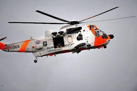 Et Sea King fly bisto under leteaksjonen i Oslofjorden lørdag.