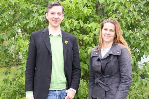 INNE I VIKEN: Ås blir godt representert med de to gruppelederne Kristoffer Robin Haug (MDG) og Solveig Schytz (V) i det nye storfylket Viken.