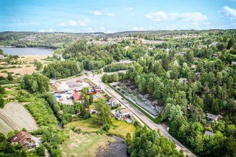 """I SKRÅNINGEN: De nye boligene i """"Markusløkka"""" skal bygges i skråningen ned fra Askehaugåsen mot Nessetveien."""
