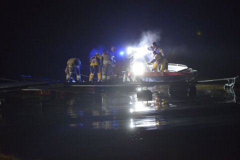 LETEAKSJON: Det ble satt igang en større leteaksjon etter melding om at en person kunne ha falt i Glomma onsdag kveld.