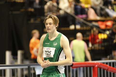 FORNØYD MED INNSATSEN: Ole Jacob Solbu deltok på 200 meter for å trene fart. Han ble nummer ti.
