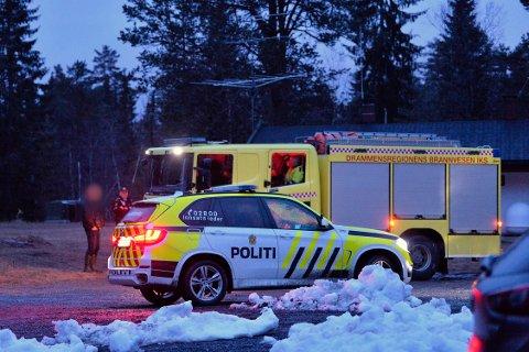 ULYKKE: En mann i 60-årene gikk gjennom isen ved Steglevannet på Konnerud lørdag kveld.