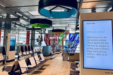 Slik ser de nye venteområdene ut. Foto: Bane NOR/Ida Taule Brentebråten