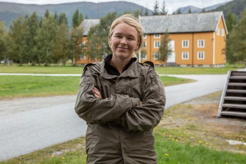 MED I KOMPANI LAURITZEN: Vida Lilla Gausemel Berge fra Ås.