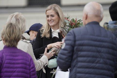 NDELIG KLAR: Emilie Enger Mehl fra Ås er i den nye regjeringen, og er historisk. Foto: Heiko Junge / NTB