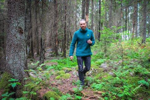 VILL BEVARE SKOGEN: MDG vil gå inn for å bevare Vollskogen som naturområde og si nei til utbygging her, sier gruppeleder Martin Løken.