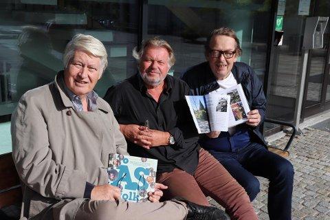 BOK OM ÅS-FOLK: Bjørn Svensen, Torstein Hvattum og Trygve Berg står bak noe som lett kan bli årets julegave for alle som er glade i Ås.