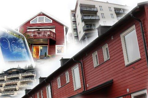 POPULÆRT: Rekkehus og tomannsboliger er fortsatt det som selges raskest og som flest ganger blir solgt over prisantydning. FOTOMONTASJE: KIM VAN DER LINDEN