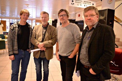 Erfarne redaktørar: Svein Sæter, Sigmund Tjelle, Ole Magne Ansnes og Lars Steinar Ansnes.
