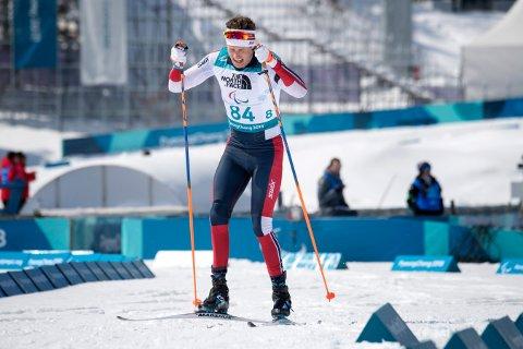 Norges Nils-Erik Ulset hentet hjem bronsemedalje i 15 km skiskyting for stående under paralympics i Pyeongchang i Sør-Korea. Foto: Jessica Gow/TT / NTB scanpix