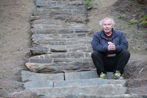 Geir Vetti ivrer sterkt for å få bygd Vinnutrappa.