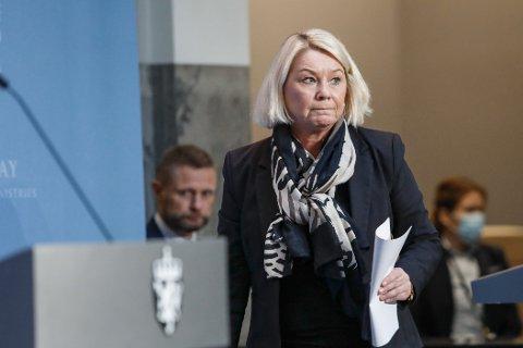Justisminister Monica Mæland.  Foto: Terje Bendiksby / NTB