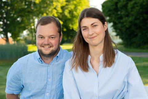 På sjekker'n: Utfordrere Ola Vatn sammen med bonden Tina Kristiansen. Foto Espen Solli/TV2.