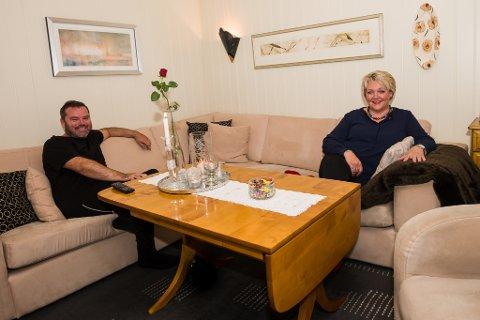 Bård Nylund og Inger Løite før tellingen starter i Gjerstad.