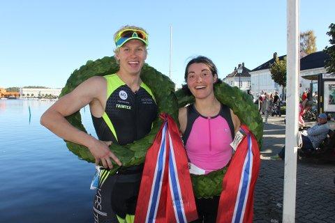 BEST: Sondre Risdal Solheim fra Arendal (til venstre) og Mila Zaharinova fra Oslo.