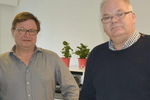 NYE LINJER: Lars Erik Follo, avdelingsleder for yrkesfag, og rektor Ove Konrad Gravningsmyr er spent på de nye linjene som starter fra høsten.