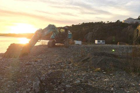NÅ STARTER ARBEIDET: Anleggsområdet blir stengt frem til 1. juli 2018.