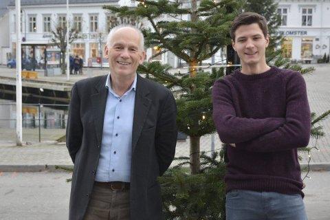 MÅTTE AVLYSE: Kristofer Torkildsen (t.v), her sammen med Sebastian Aanonsen, må avlyse den storstilte nyttårsfesten i Buvika.