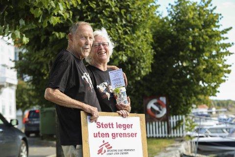 En Halv Million: Ole Jacob Røren og Bodil Gryting fra Gjerstad har samlet inn 500.000 kroner på drøye to år.