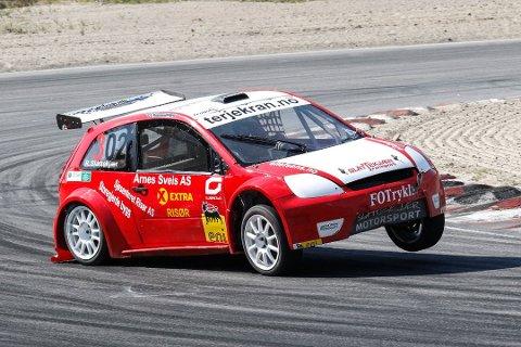 STARTEN: Robin Slåttekjær vant fire av fem NM-runder. Her fra den første runden.