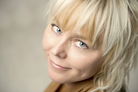 Blikk for de små: Trine Bjervig har sendt oss dette selvportrettet.