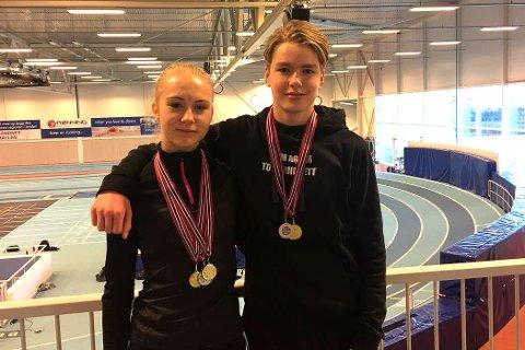 MEDALJEGROSSISTER: Anne Hjorth Arntsen (t.v.) og Sondre Yri Aaberg.