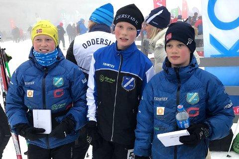 GUTTENES STAFETTLAG: (fra venstre) Halvor Sørbø, Fredrik Johnsen og Oskar Flåta Nærdal.