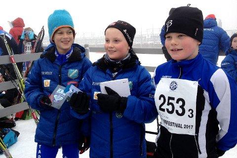 GIL 2 MIX 11-12 ÅR: (fra venstre) Tobias Flåta Nærdal, Noah Libekk Haugen og Torbjørn Berger Ausland.