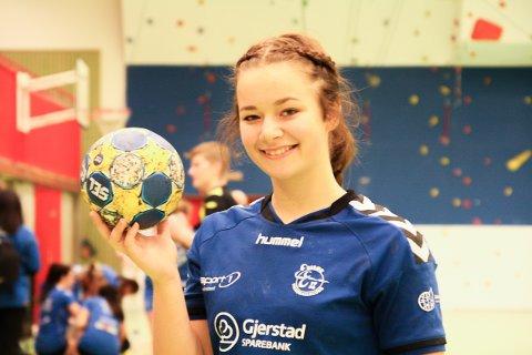 MÅLMASKIN: Veronica Aanonsen, her fra forrige sesong, scoret 14 av Risørs 29 mål mot Lia/Grimstad.