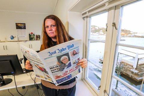 Linda Joachime Helgesen Aslaksen gir seg i jobben som redaktør for Aust-Agder Blad.