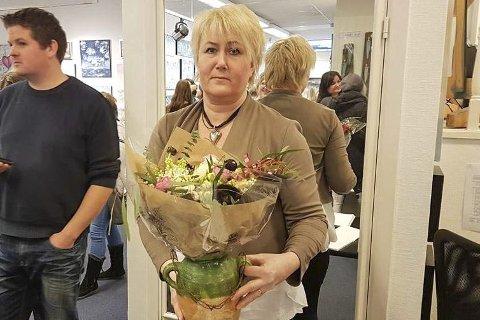 OVERVELDET: Elin Ohlsen hadde kjøpt inn 150 champagneglass til nyåpningen, men det holdt ikke.
