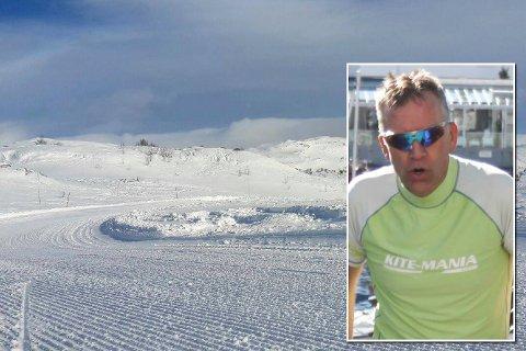 BEST I KLASSEN: Lars Lindstøl fra Risør Ski- og Skøyteklubb gikk Haukelirennet lørdag.