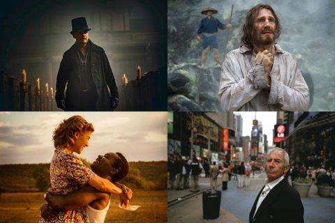 Fra øverst til venstre: Taboo (foto: HBO Nordic), Silence (SF Norge), A United Kingdom (KontxtFilm) og The Jinx: The Life and Deaths of Robert Durst (HBO Nordic)