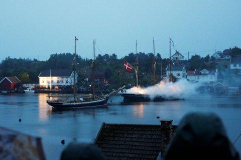 200 år etter sjøslaget, ble det laget en rekonstruksjon på Lyngør i 2012.