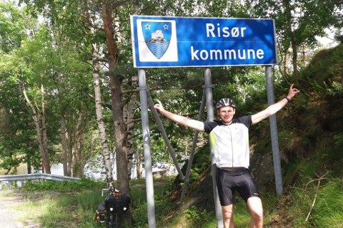 Endelig hjemme etter 1600 kilometer på sykkelsetet.
