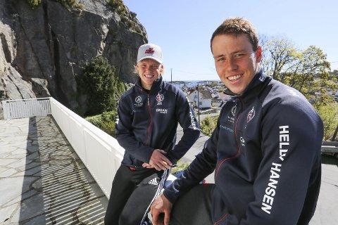 BESTE PÅ LENGE: Tomas (t.v.) og Mads Mathisen presterte jevnt bra i Kieler Woche i helgen og ble nummer 20 av 74 båter.
