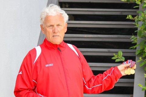 BEST I ALT: Kjell Sagmyr med fem NM-gull fra Knarvik.